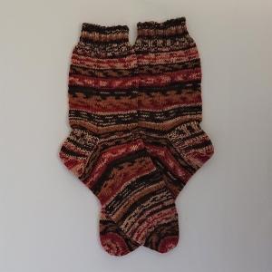 Gestrickte Socken in braun Tönen, Gr. 40/41, Wollsocken, Kuschelsocken, handgestrickt, la piccola Antonella
