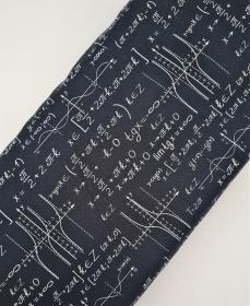 Baumwollstoff Mathe Rechenformeln, Meterware Kim, Webware, Stoffe kaufen bei la piccola Antonella  - Handarbeit kaufen
