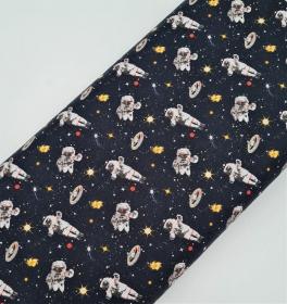 Baumwollstoff Astronaut Weltall , Meterware Kim, Webware, Stoffe kaufen bei la piccola Antonella  - Handarbeit kaufen