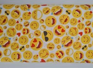 Baumwollstoff mit Smileys, Meterware Kim, Webware, Stoffe kaufen bei la piccola Antonella   (Kopie id: 100268699) - Handarbeit kaufen