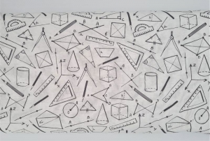 Baumwollstoff Geometrie in weiß schwarz , Meterware Kim, Webware, Stoffe kaufen bei la piccola Antonella  - Handarbeit kaufen