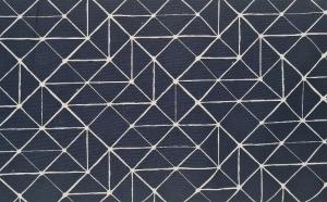 Baumwollstoff Striche Linien in blau , Meterware Kurt, Webware, Stoffe kaufen bei la piccola Antonella  - Handarbeit kaufen
