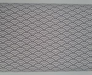 Baumwollstoff mit Bögen in grau weiß, Meterware Kurt, Webware, Stoffe kaufen bei la piccola Antonella   - Handarbeit kaufen