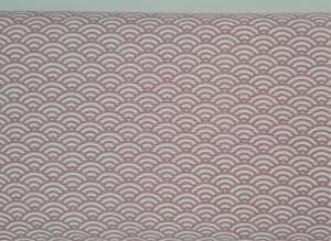 Baumwollstoff mit Bögen in rosa weiß, Meterware Kurt, Webware, Stoffe kaufen bei la piccola Antonella   - Handarbeit kaufen