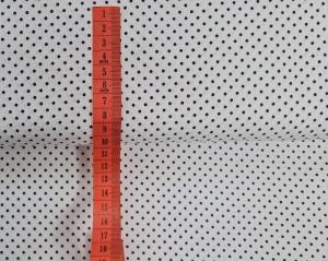 Baumwollstoff in weiß mit kleinen blauen Punkten, Meterware Judith, Webware, Stoffe kaufen bei la piccola Antonella   - Handarbeit kaufen