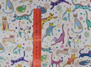 Baumwollstoff Kitty Cats by QT fabrics, Meterware, Webware, Dekostoff, Stoffe kaufen bei la piccola Antonella   - Handarbeit kaufen