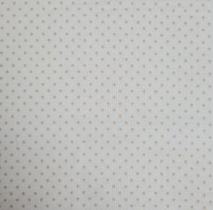 Baumwollstoff in weiß mit kleinen beigen Punkten, Meterware Judith, Webware, Stoffe kaufen bei la piccola Antonella   - Handarbeit kaufen