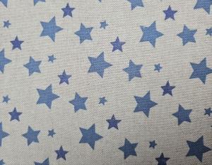 Dekostoff Baumwollmix mit blauen Sternen, Meterware Anton, Webware, Stoffe kaufen bei la piccola Antonella   - Handarbeit kaufen