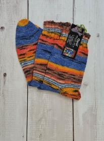 Gestrickte Socken für den Mann, Gr. 44/45 , Wollsocken, Kuschelsocken, handgestrickt, la piccola Antonella - Handarbeit kaufen