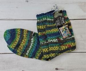 Gestrickte Socken für den Mann, Gr. 42/43, Wollsocken, Kuschelsocken, handgestrickt, la piccola Antonella   - Handarbeit kaufen