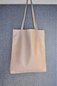 Einfacher Shopper in rosa , Einkaufstasche, Beutel aus Kunstleder, Handmade by la piccola Antonella