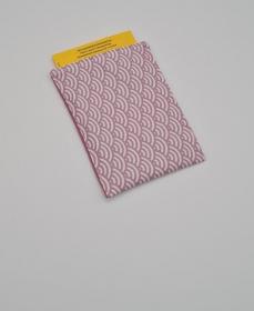 Impfpasshülle rosa Bögen, Etui für den Impfausweis aus Baumwollstoffen, handmade by la piccola Antonella   - Handarbeit kaufen