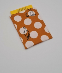 Impfpasshülle Lama gelb, Etui für den Impfausweis aus Baumwollstoffen, handmade by la piccola Antonella  - Handarbeit kaufen
