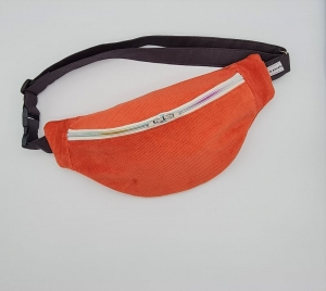 Bauchtasche aus Cord in lachs, tragbar auch als Crossbag, Umhängetasche, handmade by la piccola Antonella  - Handarbeit kaufen