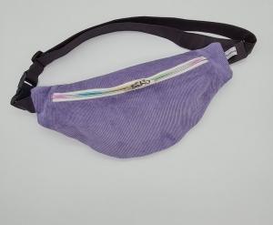 Bauchtasche aus Cord in flieder, tragbar auch als Crossbag, Umhängetasche, handmade by la piccola Antonella - Handarbeit kaufen