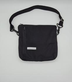 Bauchtasche in schwarz, tragbar auch als Crossbag, Umhängetasche, handmade by la piccola Antonella  - Handarbeit kaufen