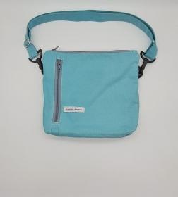 Bauchtasche in türkis, tragbar auch als Crossbag, Umhängetasche, handmade by la piccola Antonella  - Handarbeit kaufen