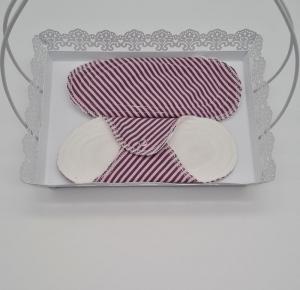 Waschbare Slipeinlagen / Binden aus Baumwolle rosa gestreift, 2 Stück, Zero Waste, handmade by la piccola Antonella  - Handarbeit kaufen