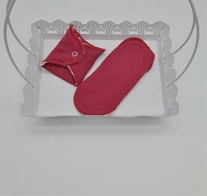 Waschbare Slipeinlagen / Binden aus Baumwolle in beere, 2 Stück, Zero Waste, handmade by la piccola Antonella   - Handarbeit kaufen