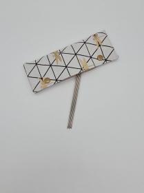 Stricknadelgarage , Stricknadeltasche Libelle, Aufbewahrung für Nadelspiel 20 cm, handmade la piccola Antonella  - Handarbeit kaufen