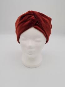 Stirnband Nicki in henna, Knotenstirnband, Turbanstirnband, Bandeau, Haarband, handmade by la piccola Antonella   - Handarbeit kaufen