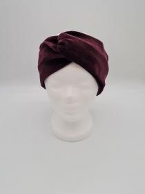 Stirnband Nicki in weinrot, Knotenstirnband, Turbanstirnband, Bandeau, Haarband, handmade by la piccola Antonella    - Handarbeit kaufen