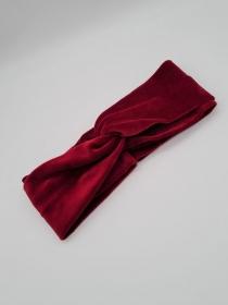 Stirnband Nicki in rot, Knotenstirnband, Turbanstirnband, Bandeau, Haarband, handmade by la piccola Antonella - Handarbeit kaufen