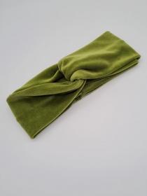 Stirnband Nicki in hellgrün, Knotenstirnband, Turbanstirnband, Bandeau, Haarband, handmade by la piccola Antonella  - Handarbeit kaufen
