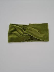 Breiteres Stirnband Nicki in hellgrün, Knotenstirnband, Turbanstirnband, Bandeau, Haarband, handmade by la piccola Antonella  - Handarbeit kaufen