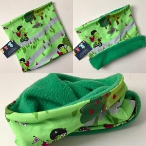 Halssocke Loop Kinder Drache grün - Handarbeit kaufen