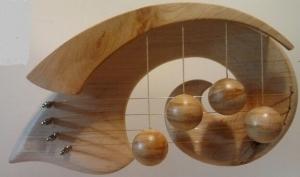 Türharfe KLEINE WELLE aus Erlenholz in Handarbeit