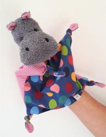 Hippo das Nilpferd * Handpuppe, Schmusetuch und Kuscheltier  - Handarbeit kaufen