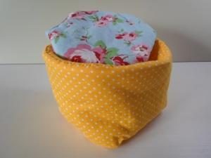 Eierkörbchen/ Eierwärmer  *Giallo* Baumwolle gelb mit Deckel nach Wahl von friess-design Goldener Anfang