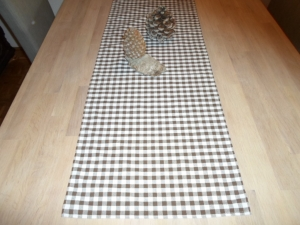 Tischläufer *Marrone* Baumwolle braun 136x38cm von friess-design  - Handarbeit kaufen