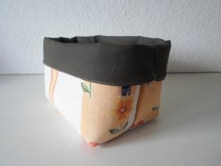 Stoffkorb/ Brotkorb *Soggiorno* Baumwolle braun mittel, sehr fest von friess-design  - Handarbeit kaufen