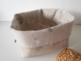 Stoffkorb/ Brotkorb *Roma Antica* Baumwolle beige (sehr fest) von friess-design  - Handarbeit kaufen