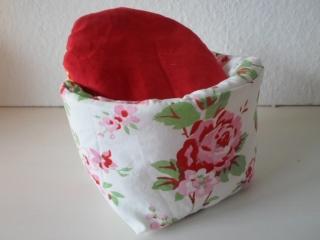 Eierkörbchen/ Eierwärmer *romantico* Baumwolle mit Deckel nach Wahl von friess-design