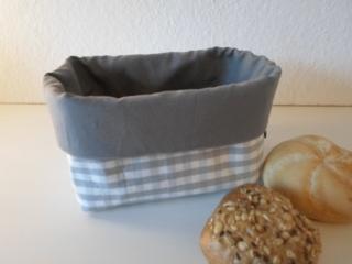 Brotkorb *Farina* grau Baumwolle  (sehr fest) von friess-design