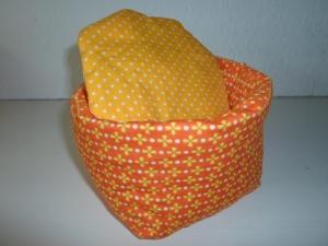 Eierkörbchen/ Eierwärmer *Giardino* Baumwolle orange mit Deckel nach Wahl von friess-design  - Handarbeit kaufen