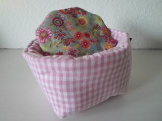 Eierkörbchen/ Eierwärmer *Farina rosa* Baumwolle mit Deckel nach Wahl von friess-design  - Handarbeit kaufen
