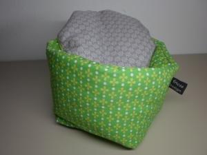 Eierkörbchen/ Eierwärmer *verde* Baumwolle mit Deckel nach Wahl - Handarbeit kaufen
