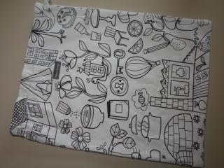 Wäschebeutel/ Turnbeutel *Giocco* Baumwolle von friess-design mit Baumwollkordel  - Handarbeit kaufen