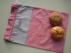 Brotbeutel *speciale* Baumwolle rot-kariert/ sottile - Handarbeit kaufen