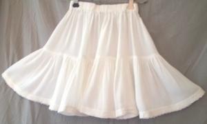 Stufenrock in Größe 110-122 weiß für den Sommer für  Mädchen  mit Spitze  - Handarbeit kaufen