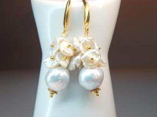 Perlentraum...Weiße Perlen mit Regenbogenschimmer!