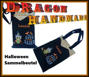 Halloween Sammelbeutel Süßigkeitenbeutel bestickt mit Namen