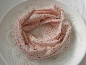 Loop Baumwoll-Batist rosa mit Konfetti-Muster - Handarbeit kaufen