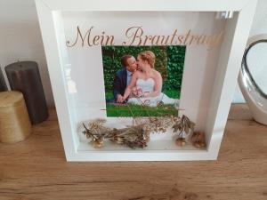 3D Bilderrahmen*Brautstrauß*Aufbewahrung*Hochzeit*Hochzeitsgeschenk*personalisiert