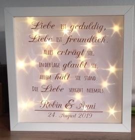 3D Bilderrahmen*Leuchtbilderrahmen*Hochzeit*Geschenk*personalisiert