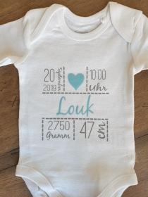personalisierter Babybod *Geschenk zur Geburt* Gr. 62/68